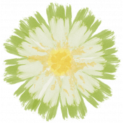 All the Princesses- Painted Green Flower 03
