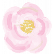 All the Princesses- Painted Pink Flower 04