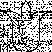 Flower Doodle Template 078