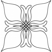 Flower Doodle Template 080