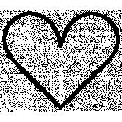 Heart Doodle Template 039