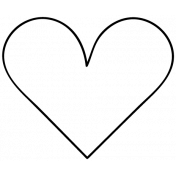 Heart Doodle Template 040