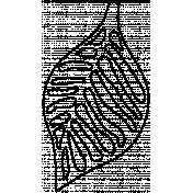 Leaf Doodle Template 041