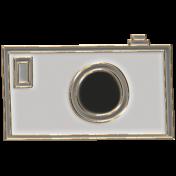 Apple Crisp- Enamel Camera Charm