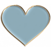 Apple Crisp- Enamel Heart Charm 01