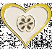 Apple Crisp- Enamel Heart Charm 02