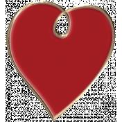 Apple Crisp- Enamel Heart Charm 03