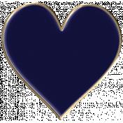 Apple Crisp- Enamel Heart Charm 04
