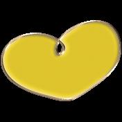 Apple Crisp- Enamel Heart Charm 05