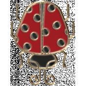 Apple Crisp- Enamel Ladybug Charm