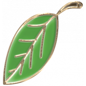 Apple Crisp- Enamel Leaf Charm 04
