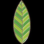 Apple Crisp- Enamel Leaf Charm 05