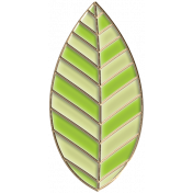 Apple Crisp- Enamel Leaf Charm 07