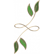 Apple Crisp- Enamel Leaf Charm 08