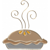Apple Crisp- Enamel Pie Charm