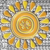 Apple Crisp- Enamel Sun Charm