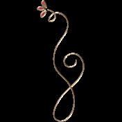 Apple Crisp- Enamel Swirl Charm 01