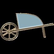 Apple Crisp- Enamel Wheelbarrow Charm