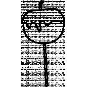 Caramel Apple Doodle Template 01