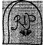 Grave Doodle Template 01