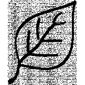Leaf Doodle Template 6