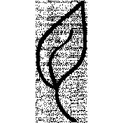Leaf Doodle Template 7