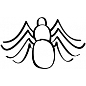 Spider Doodle Template 01