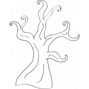 Tree Doodle Template 01