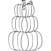 Pumpkin Doodle Template 01
