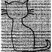 Cat Doodle Template 03
