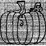 Pumpkin Doodle Template 02