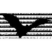 Vintage Bat Stamp Template 01