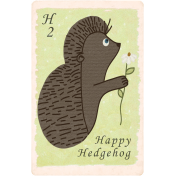 Fall Into Autumn- Hedgehog Card