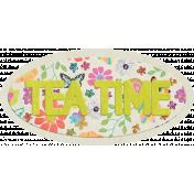 Garden Party Tea Time Word Art