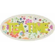 Garden Party Tea Time Word Art