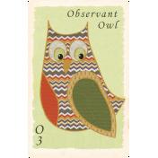 Fall Into Autumn- Owl Card