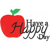 Love Notes- Happy Day Word Art