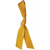Fall Into Autumn- Yellow Knotted Ribbon