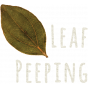 Fall Into Autumn- Add On- Leaf Peeping WA