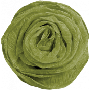 Chills & Thrills Green Paper Flower