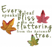 Fall Into Autumn- Shadowed Fluttering Word Art