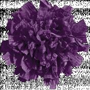Chills & Thrills Purple Paper Flower