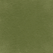 Fall Into Autumn- Dark Green Embossed Paper