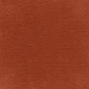 Fall Into Autumn- Dark Orange Embossed Paper