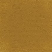 Fall Into Autumn- Dark Yellow Embossed Paper