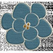 Fall Into Autumn- Blue Flower Doodle Art