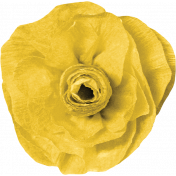 Chills & Thrills Yellow Paper Flower