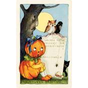 Chills & Thrills Vintage Pumpkin Post Card