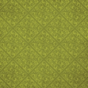 Chills & Thrills- Green Damask Paper