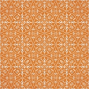 Chills & Thrills- Orange Damask Paper